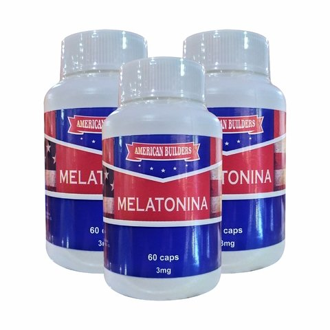 COMBO KIT 3UN. MELATONINA 60 CAPS 3MG - AMERICAN BUILDERS COM NOTA FISCAL