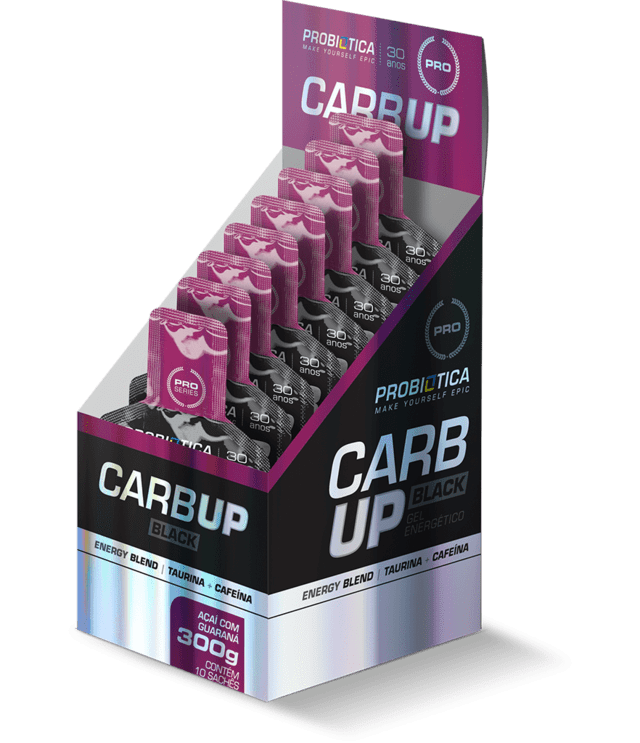 CARB UP BLACK GEL C/ 10 SACHÊS - PROBIÓTICA