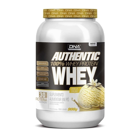 WHEY 100% AUTHENTIC 908G - DNA SUPLEMENTOS
