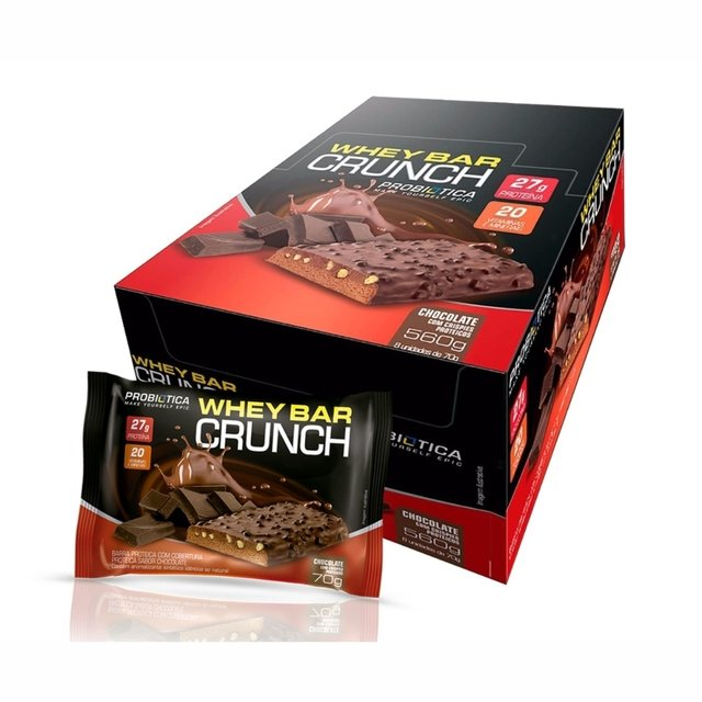 WHEY BAR CRUNCH CX. C/12 SABOR COOKIES - PROBIÓTICA