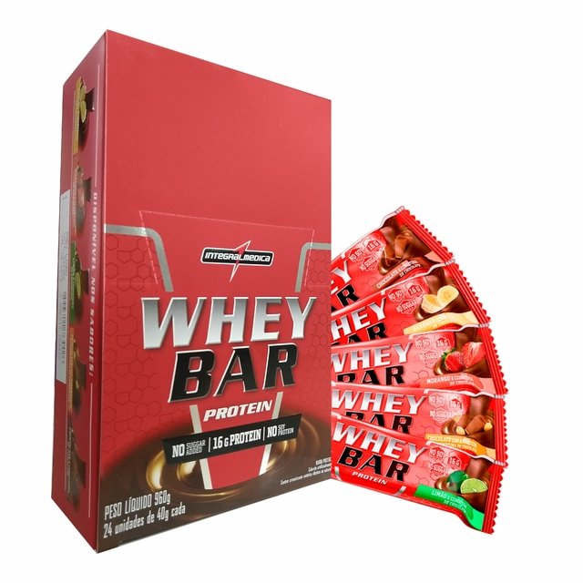 WHEY BAR CX. C/ 24 UNIDADES - INTEGRALMÉDICA