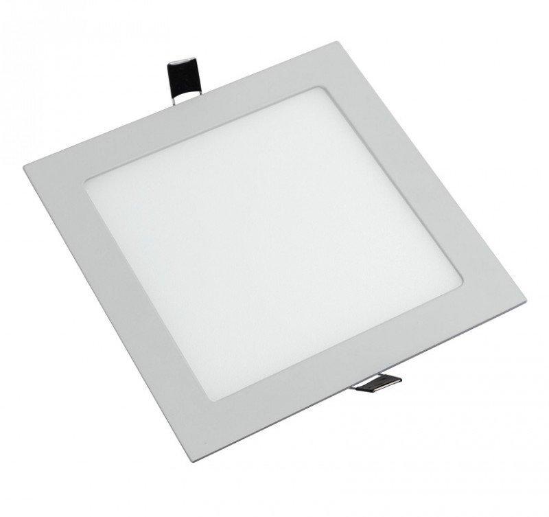 Panel LED embutir 12 w marco blanco Cuadrado