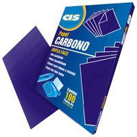 Papel Carbono CIS Dupla Face Azul A4 Papel 100 Fls