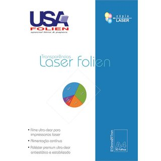 Transparencia Laser Clear A4 50 Fls Usa Folien