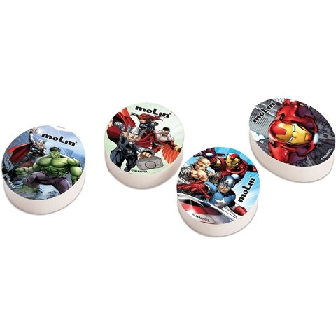 Borracha Decorada The Avengers Sortidas 20 Unid