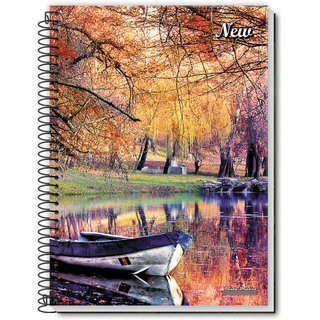 Caderno Espiral 1/4 Flexivel New 48 Fls 20 Unid