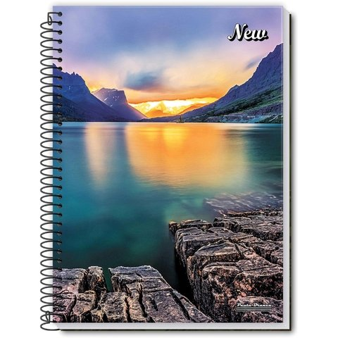 Caderno Espiral 1/4 Flexivel New 96 Fls 10 Unid