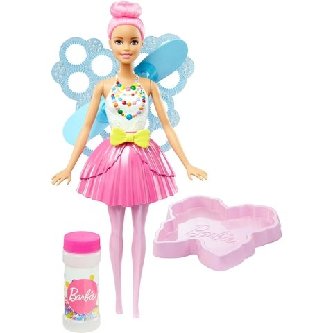 Barbie Fan Fada Bolhas Magicas Mattel