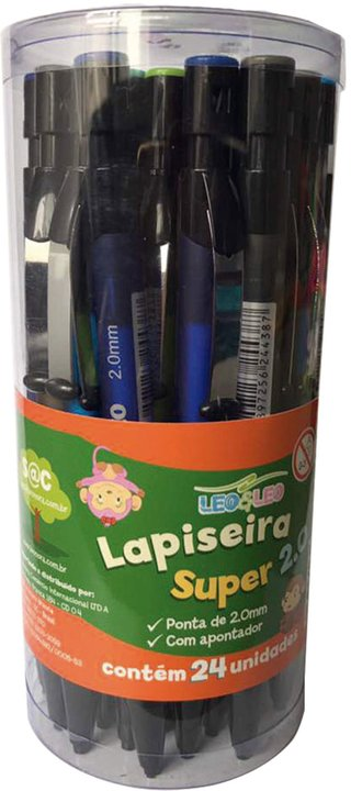 Lapiseira 2.0mm New Super Cores Sortidas 24 Unid