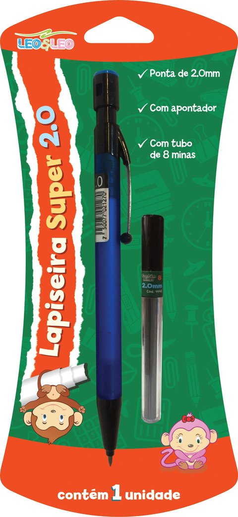 Lapiseira 2.0mm New Super Blister c/ Grafite 12 Unid