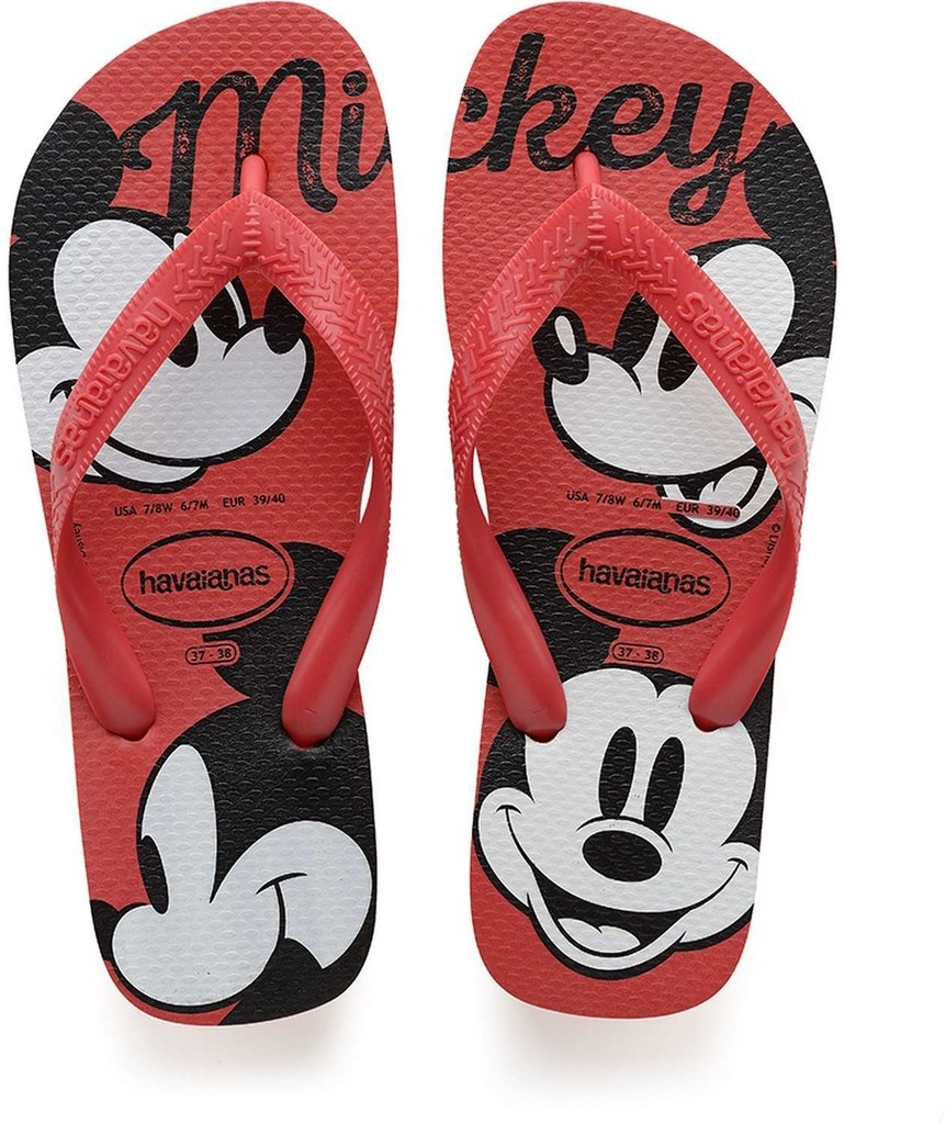 58e1eddb9 Chinelo Havaianas Unissex Top Disney Vermelho Rubi