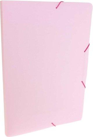Pasta Plastica Aba Elastica Oficio 20mm Serena Rosa 10 Unid