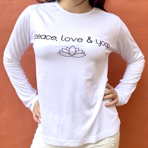 Remera Peace, Love & Yoga