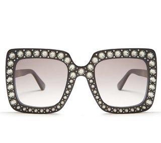 4f1a3af2b2aea Óculos Gucci Oversized - Comprar em Loira Morena