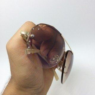 214ec810c884c Oculos de Sol Swarovski Aviador Strass Degradê. 0% OFF