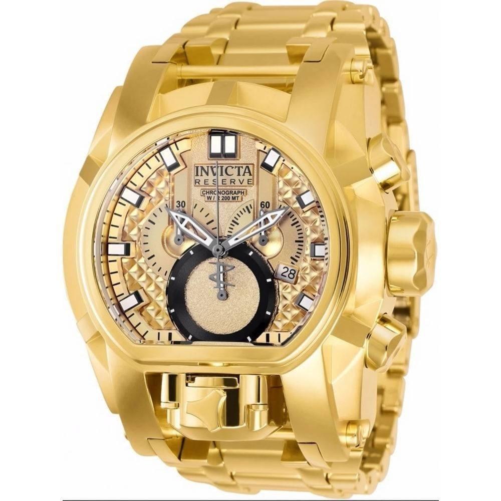 9e97308bd22 Relógio Invicta Reserve Bolt Zeus Magnum Dourado