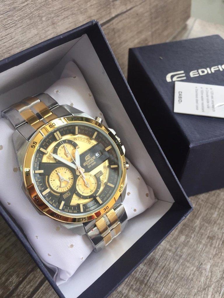 18b1a7c5ece Relógio Casio Masculino Edifice EFR-556 Dourado Misto. 48% OFF
