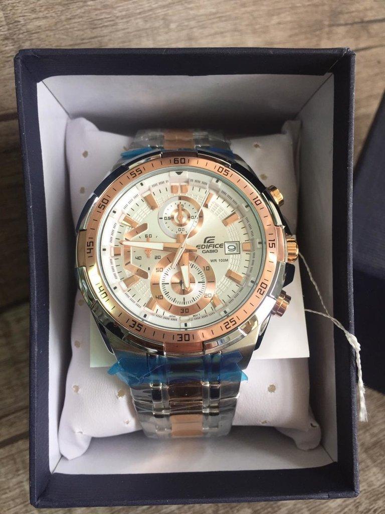 79ce114a14d Relógio Casio Masculino Edifice EFR-539 Prata Rose