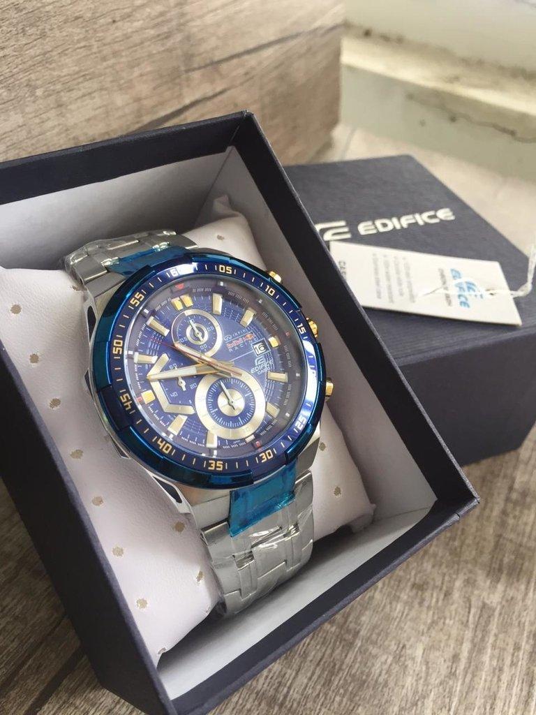 b0e4d2e39da Relógio Masculino Casio Edifice EFR-539 Prata Azul