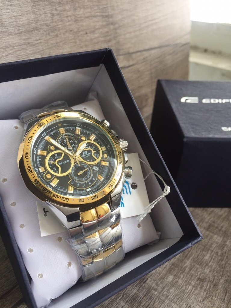 67f735ec6a2 Relógio Masculino Casio Edifice EF-554 Dourado Misto