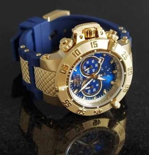 47151d20c98 Relogio Masculino Invicta 5515 Dourado Azul Lindo Top. 48% OFF