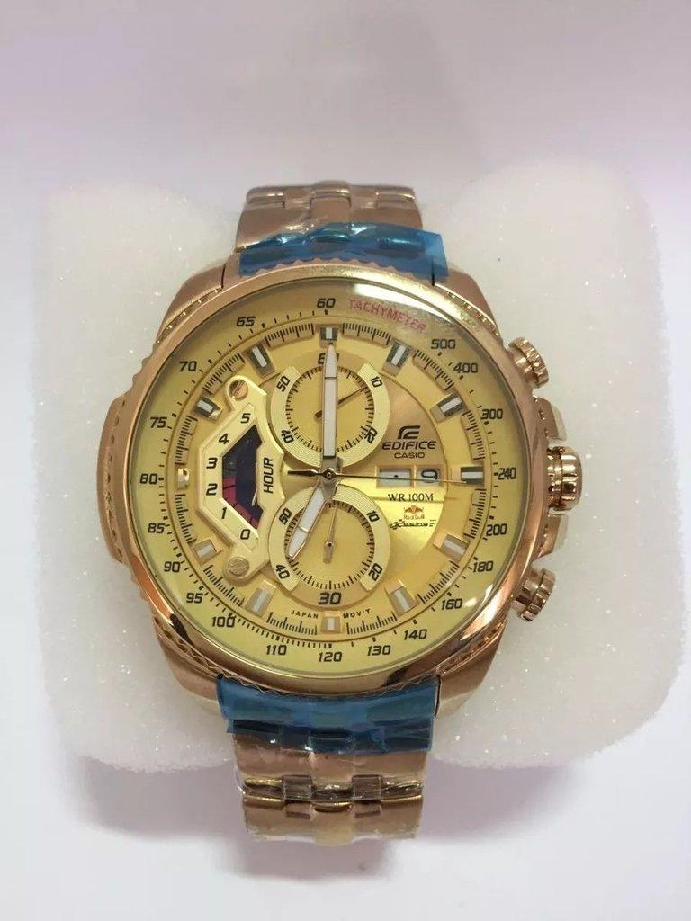 2472a0f377d3 Relogio Casio Edifice Ef 558 Dourado Branco Gold