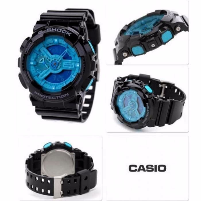 33ef3fbe161 Relogio Casio G-shock Ga-110b-1a2 Preto Azul