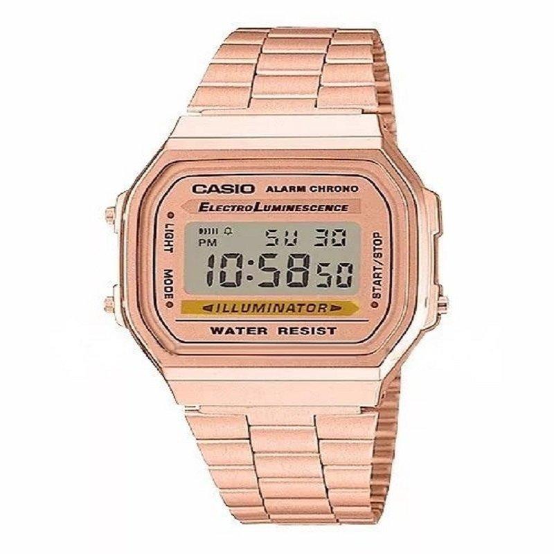 6a1df4ef24d4 Relógio Digital Casio Unissex Retro Vintage Rose