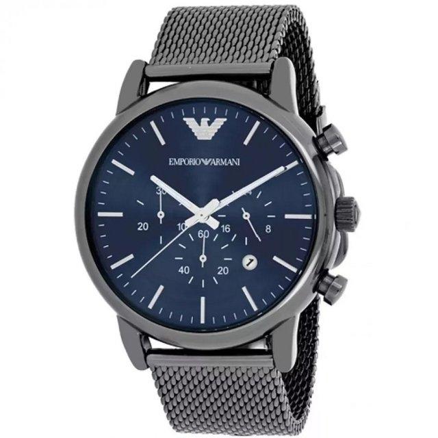 1290e8284e8 Relógio Empório Armani Ar1979 Azul Blue