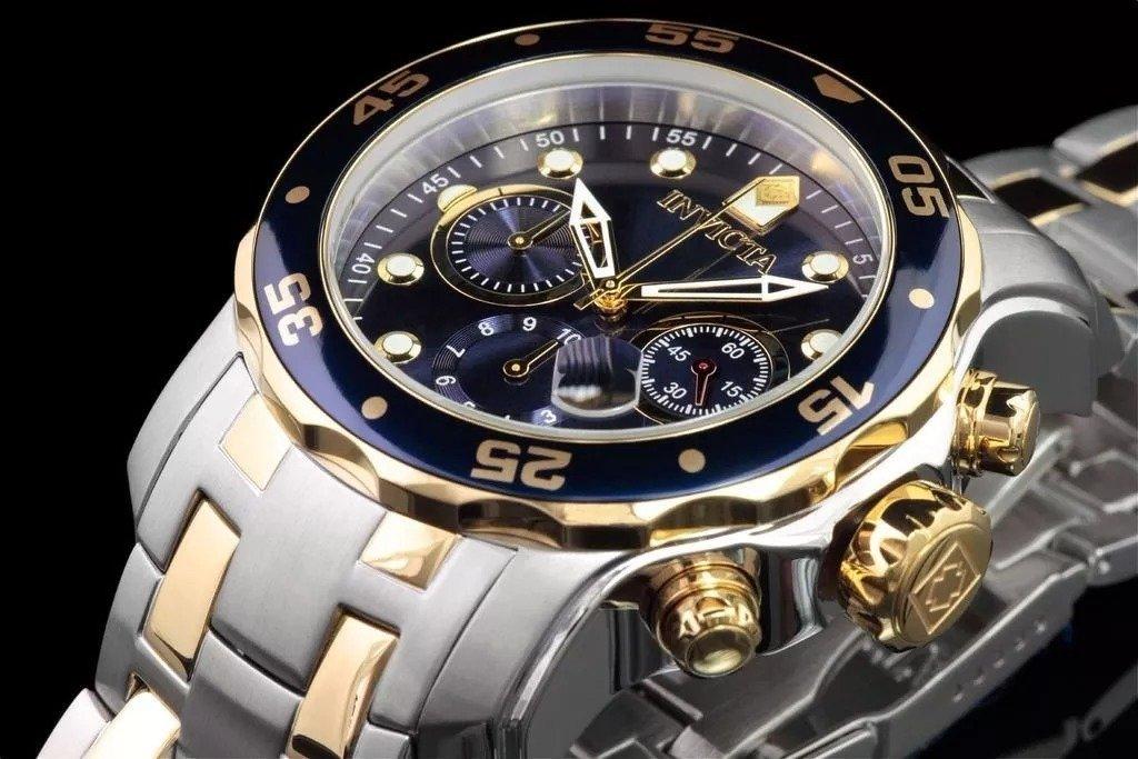 44a8c267071 Relógio Invicta Pro Diver 0077 Prata Dourado