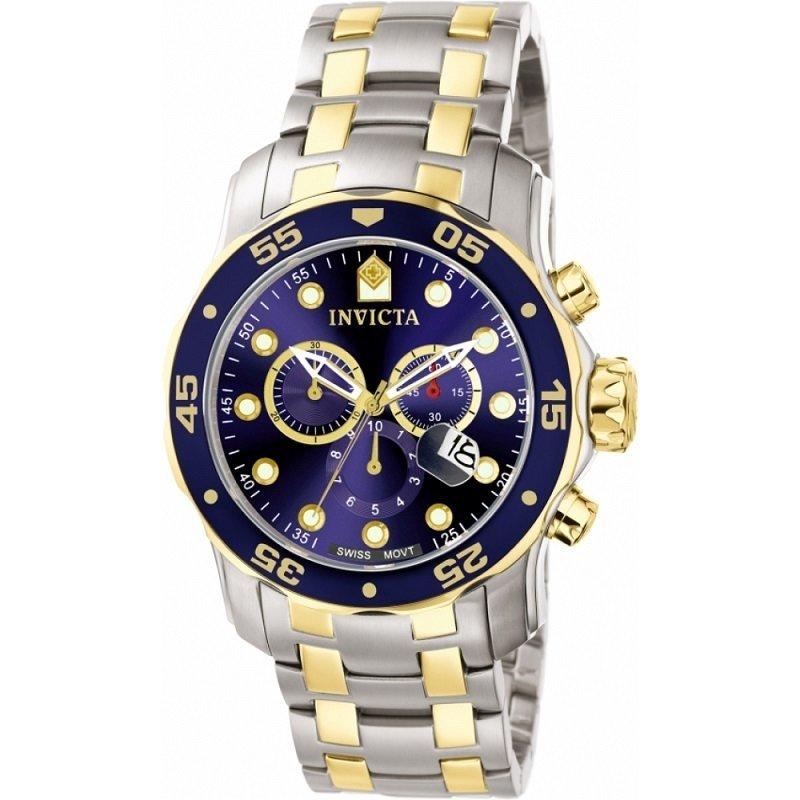 ca4845bc197 Relógio Invicta Pro Diver 0077 Prata Dourado