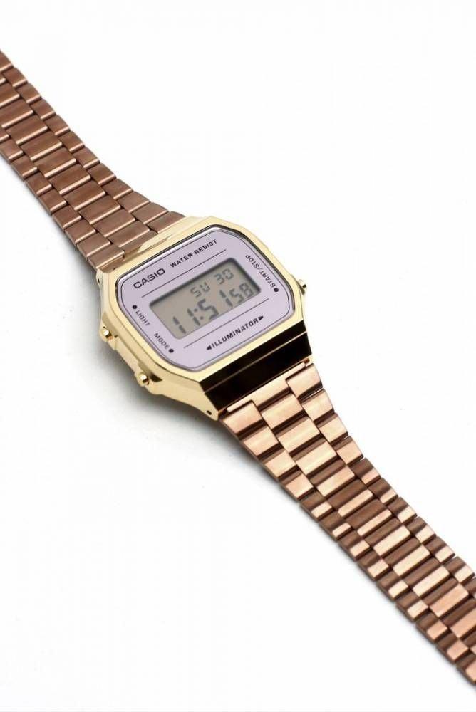 6ef6e184d39 Relógio Casio Unisex Dourado Vintage Retrô. 71% OFF