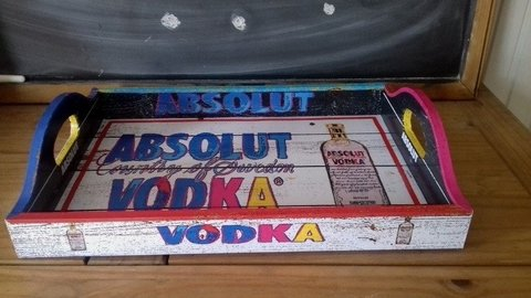 Bandeja Vintage Absolut Vodka