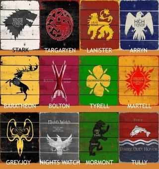 Cabideiro  Game Of Thrones Houses 12x40 cm - comprar online
