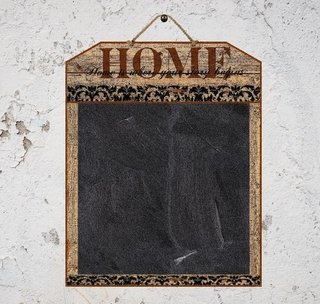 Quadro Negro Welcome & Home 40x50 cm na internet