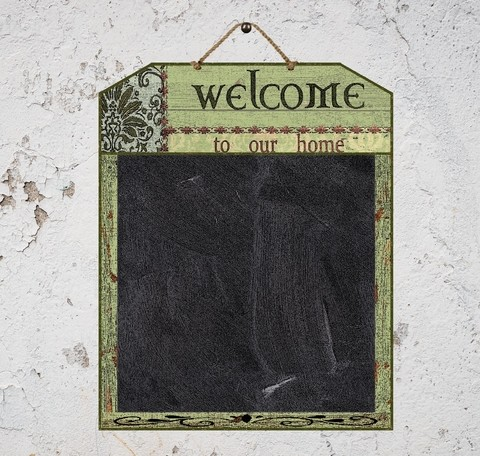 Quadro Negro Welcome & Home 40x50 cm