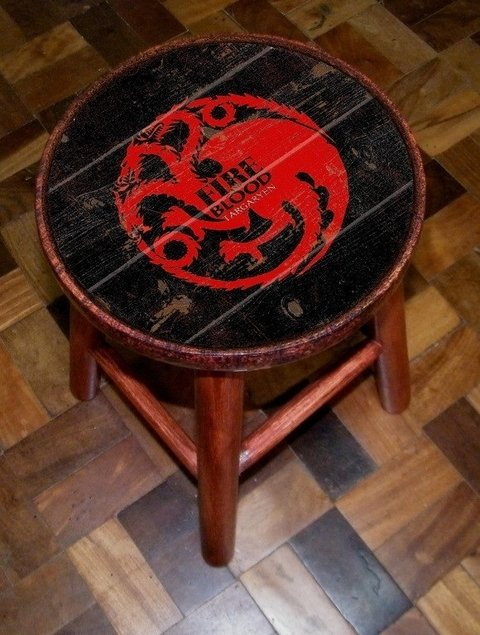 Conjunto 4 Banquetas Game Of Thrones GOT - comprar online