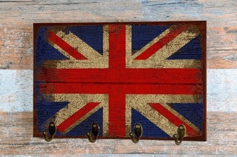 Porta Chaves Union Jack 24x36 cm