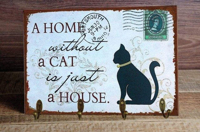 Porta Chaves Home Cat 24x36 cm - comprar online