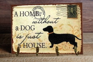 Porta Chaves Home Dog 24x36 cm