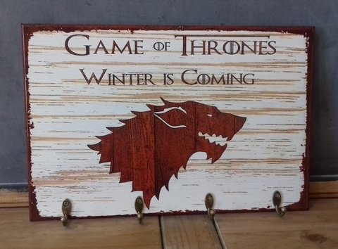 Cabideiro/Porta Chaves 24x36 cm - Game of Thrones Stark