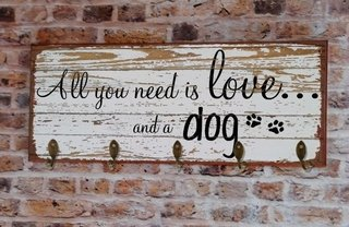 Cabideiro Grande 20x50  All You Need Is Love - comprar online