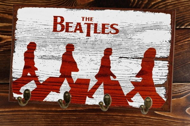 Cabideiro/Porta Chaves 24x36 cm - Abbey Road Beatles