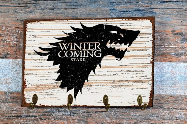 Cabideiro/Porta Chaves 24x36 cm - Game of Thrones Stark na internet