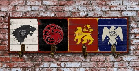 Cabideiro / Porta-chaves 12x40 cm - Game Of Thrones GOT