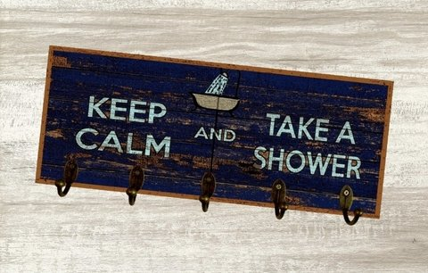 Cabideiro Grande 20x50  Keep Calm Shower