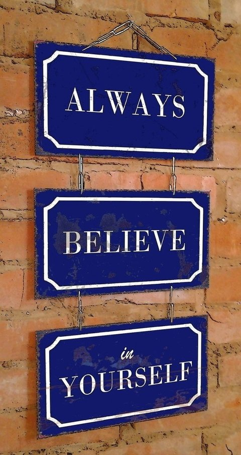 Conjunto 3 Placas Always Believe In Yourself