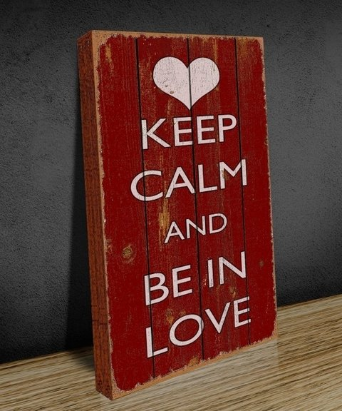 Tela GRANDE 40x60 Keep Clam Love