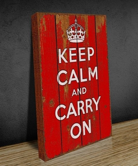 Tela GRANDE 40x60 Keep Clam Carry On Red