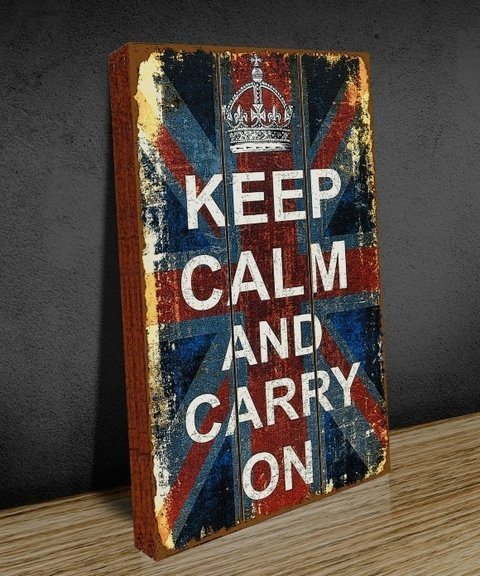 Tela GRANDE 40x60 Keep Calm Old Flag